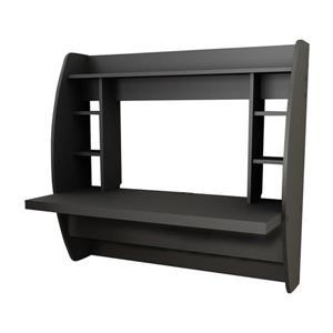 Prepac Transitional Black Floating Desk