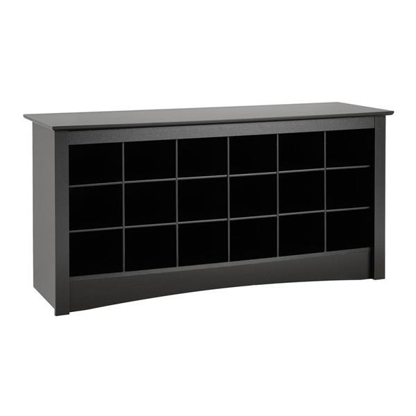 Prepac Casual Black Storage Bench