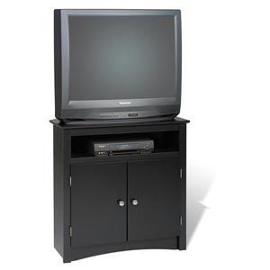 Prepac Black Corner TV Stand