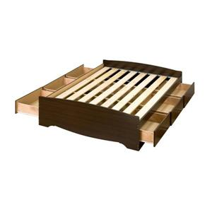 Prepac Mate's Espresso Full Platform Bed with Storage