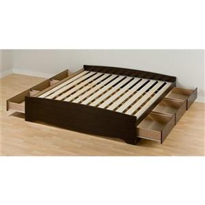 Prepac Mate's Espresso King Platform Bed with Storage