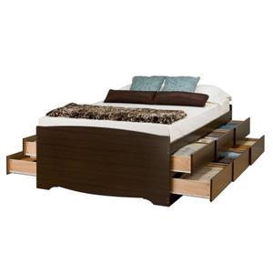 Prepac Furniture Tall Queen Captains Plarform Storage Bed