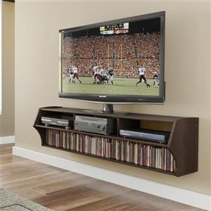 Prepac Altus Espresso Wall-Mounted TV Stand