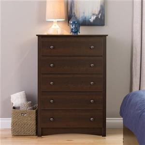 Prepac Fremont Espresso 5-Drawer Chest