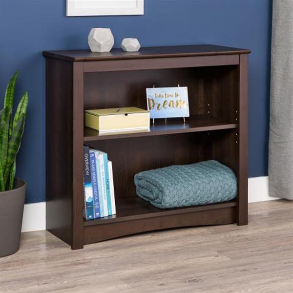 Prepac Espresso  2-Shelf Bookcase