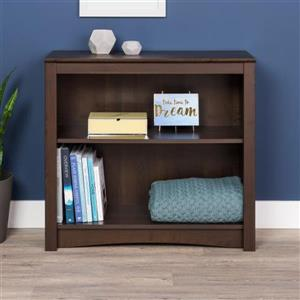 Prepac Espresso  2-Shelf Bookcase