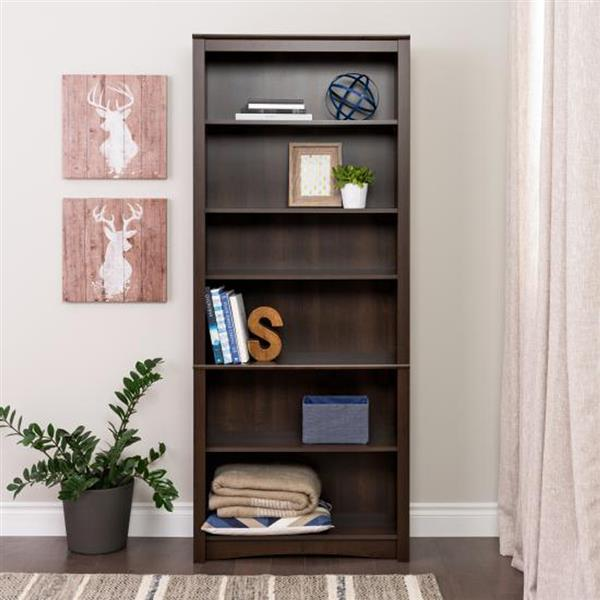 Prepac Espresso  6-Shelf Bookcase