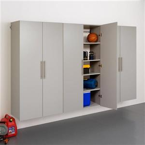 Prepac HangUps Set E Storage Cabinet - 3 Pieces - Light Grey