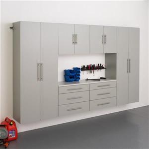 Prepac HangUps Set I Storage Cabinet - 6 Piece - Light Grey