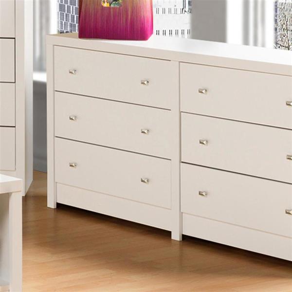 Prepac Calla 6-Drawer Dresser - 15.25-in x 88-in x 58.5-in - White