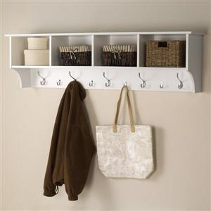 Prepac White 9-Hook Wall Mounted Coat Rack