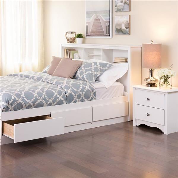 Prepac White Full Queen Platform, Queen Platform Bed Frame With Storage White