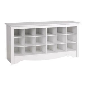 Prepac Casual White Storage Bench