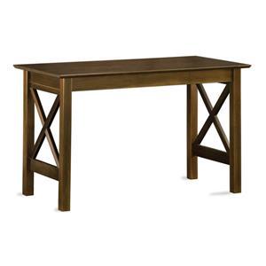 Atlantic Furniture Lexi Transitional Antique Walnut Writing Desk