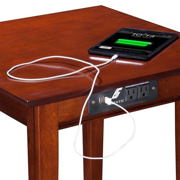 Atlantic Furniture Shaker Walnut Wood Mission/Shaker End Table