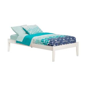 Atlantic Furniture Concord Twin Platform Bed with Open Foot Board in White