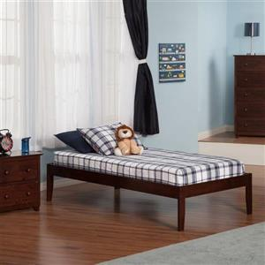 Atlantic Furniture Concord Antique Walnut Twin Platform Bed