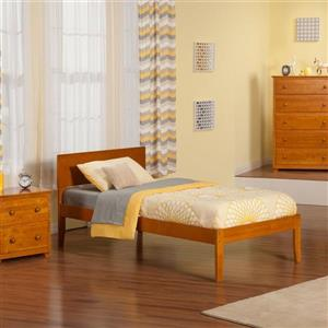 Atlantic Furniture Orlando Caramel Latte Twin Platform Bed