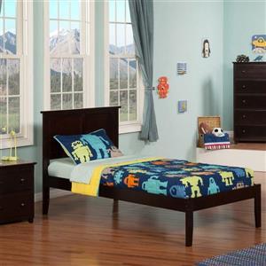 Atlantic Furniture Madison Espresso Twin Platform Bed