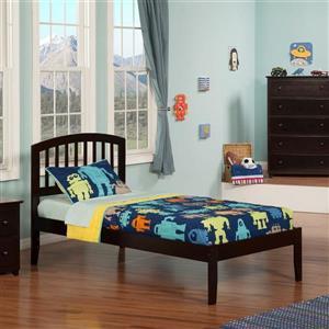 Atlantic Furniture Richmond Twin XL Platform Bed with Open Foot Board in Espresso