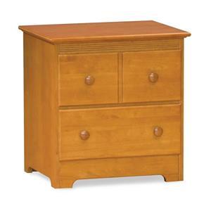 Atlantic Furniture Windsor 2 Drawer Night Stand Caramel