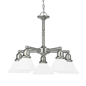 Sea Gull Lighting Sussex 5-Light Brushed Nickel Transitional Shaded Chandelier
