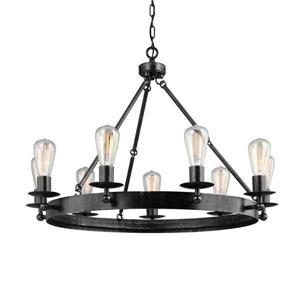 Sea Gull Lighting RavenWood Manor 9-Light Stardust Transitional Candle Chandelier