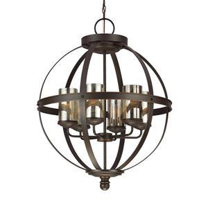 Sea Gull Lighting Sfera Autumn Bronze Transitional Mercury Glass Orb Pendant