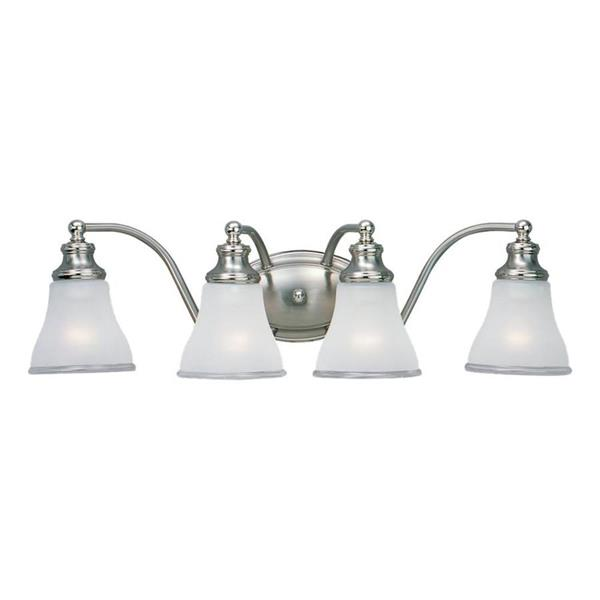 Sea Gull Lighting Alexandria 4-Light 24.75-in Two-tone Nickel Bell Vanity Light