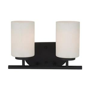 Sea Gull Lighting Oslo 2-Light 12.5-in Blacksmith Cylinder Vanity Light