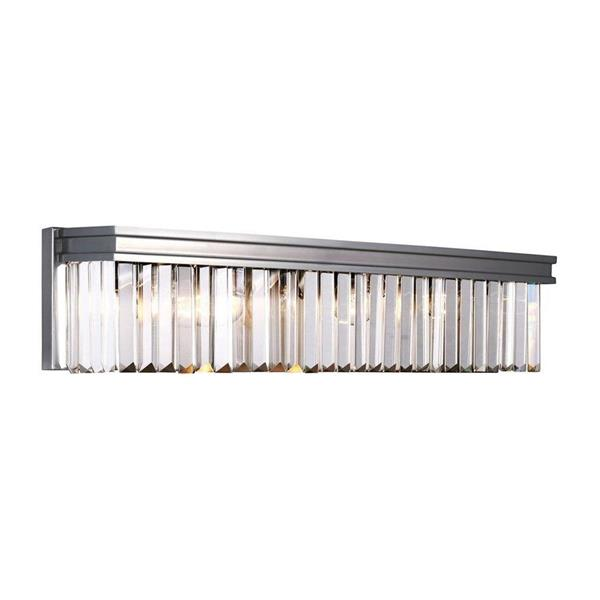 Sea Gull Lighting Carondelet 1-Light 25.5-in Antique brushed Nickel Rectangle Vanity Light