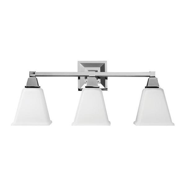 Sea Gull Lighting Denhelm 3-Light 24.25-in Chrome Bell Vanity Light
