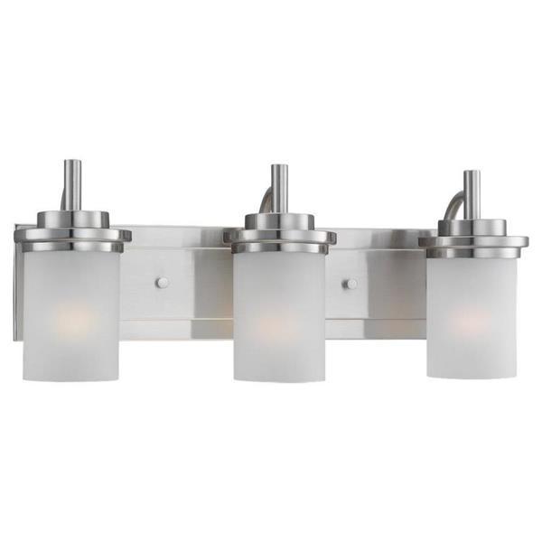 Sea Gull Lighting Winnetka 3-Light 23-in Brushed Nickel Cylinder Vanity Light