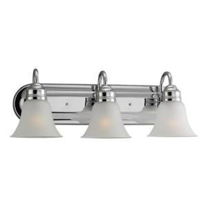 Sea Gull Lighting Gladstone 3-Light 24-in Chrome Bell Vanity Light