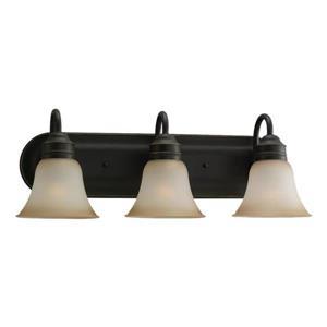 Sea Gull Lighting Gladstone 3-Light 24-in Heirloom Bronze Bell Vanity Light