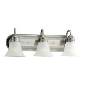 Sea Gull Lighting Gladstone 3-Light 24-in Antique brushed Nickel Bell Vanity Light