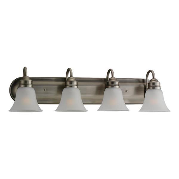 Sea Gull Lighting Gladstone 4-Light 32.5-in Antique brushed Nickel Bell Vanity Light
