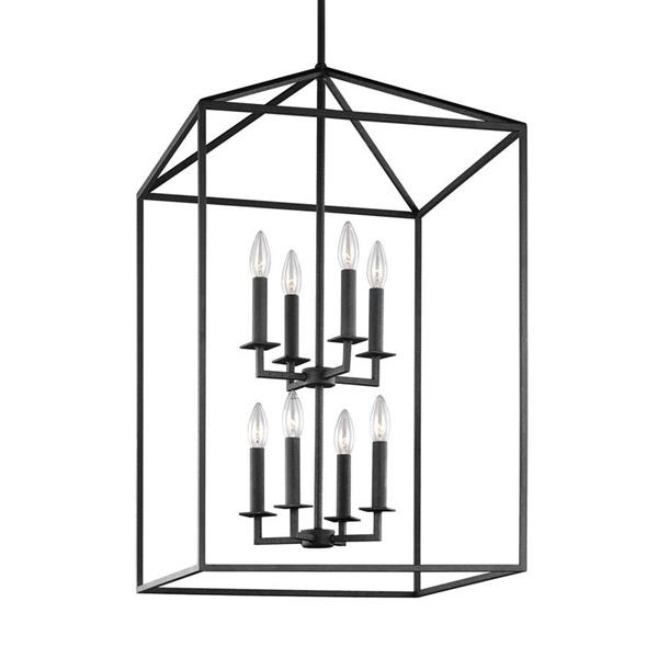 Sea Gull Lighting Perryton Blacksmith Transitional Cage Pendant