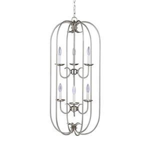 Sea Gull Lighting Holman 6-Light Brushed Nickel Transitional Cage Chandelier