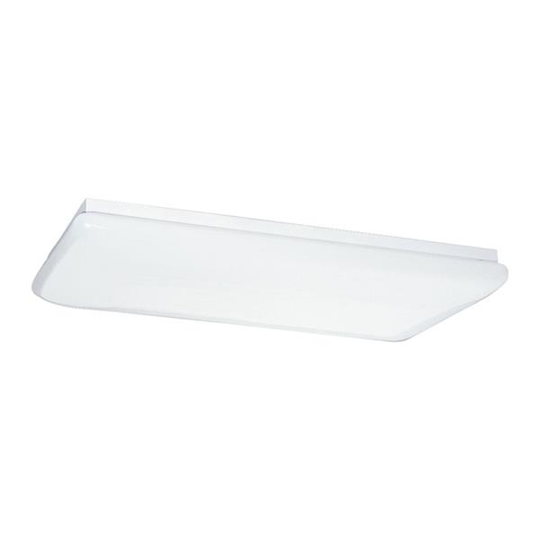 Sea Gull Lighting White Acrylic Ceiling Fluorescent Light ENERGY STAR (Common: 4-ft; Actual: 51.5-in)