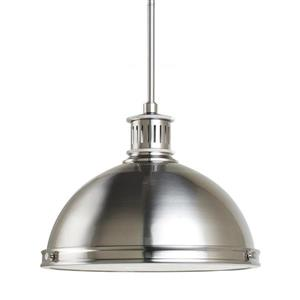 Sea Gull Lighting Pratt Street Brushed Nickel Modern Warehouse Pendant