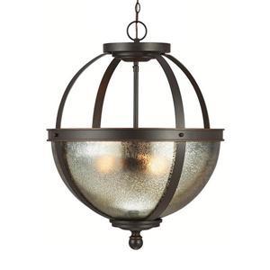 Sea Gull Lighting Sfera Autumn Bronze Transitional Mercury Glass Orb Pendant.