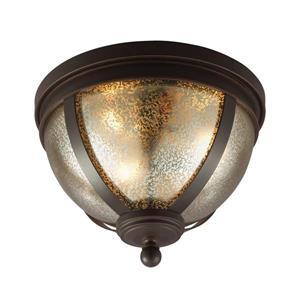 Sea Gull Lighting Sfera 14.25-in W Autumn Bronze Flush Mount Light