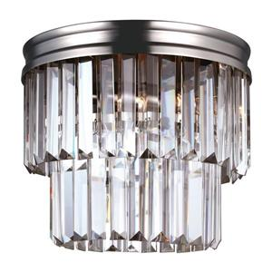 Sea Gull Lighting Carondelet 10.625-in W Antique Brushed Nickel Flush Mount Light