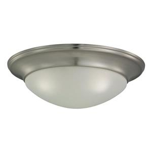 Sea Gull Lighting Nash 16.75-in W Brushed Nickel Flush Mount Light