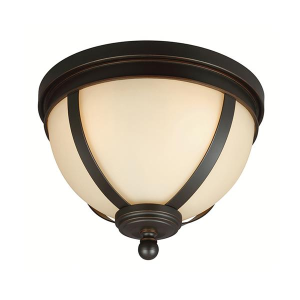 Sea Gull Lighting Sfera 14.25-in W Autumn Bronze Flush Mount Light