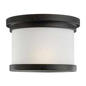 Sea Gull Lighting Winnetka 10-in W Forged Iron Outdoor Flush-Mount Light.