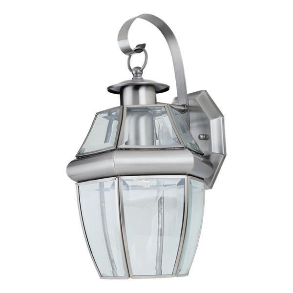 Sea Gull Lighting Lancaster 14-in H Antique Brushed Nickel Outdoor Wall Light