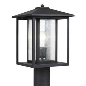Sea Gull Lighting Hunnington 15-in H Black Post Light
