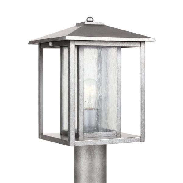 Sea Gull Lighting Hunnington 15-in H Weathered Pewter Post Light